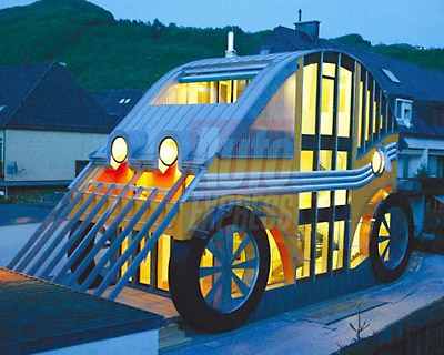 Interesting home architecture for Car house
